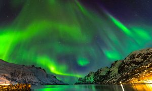 Northern lights above Tromso, Norway