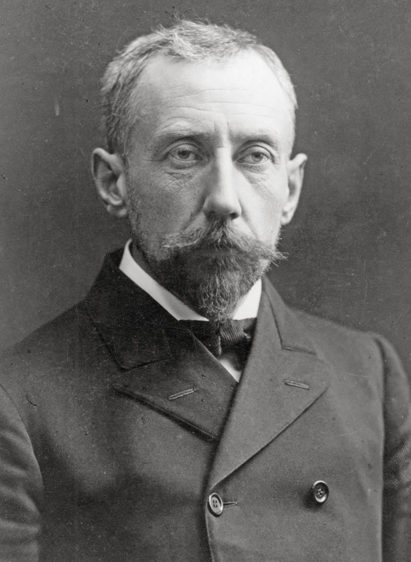 A portrait of Captain Roald Amundsen