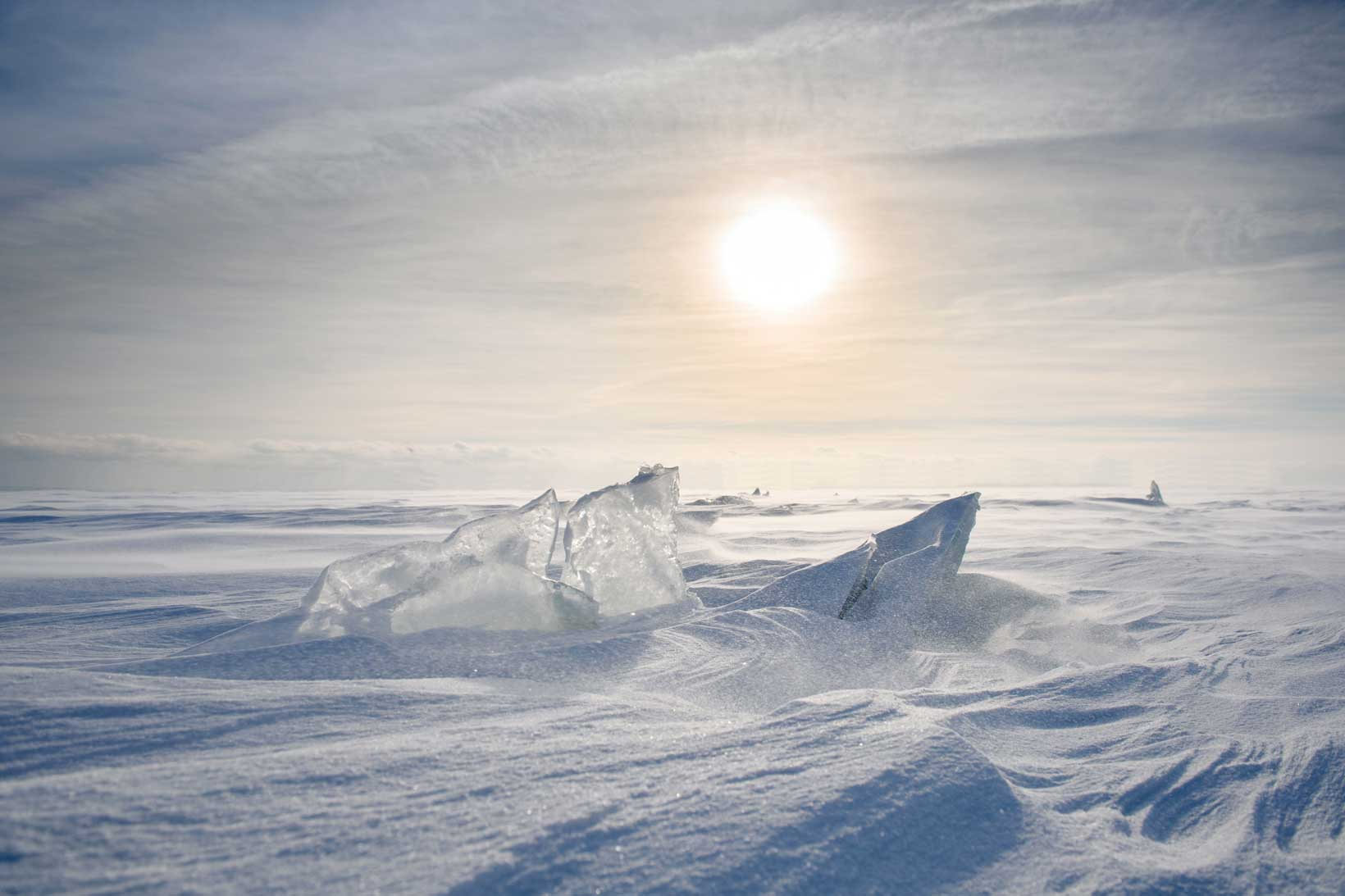 Icy frozen landscape