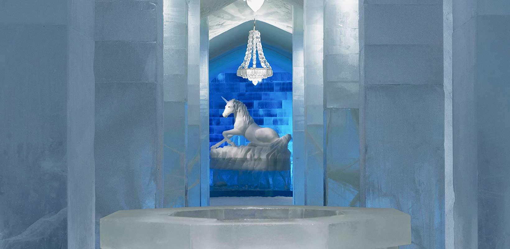 Ice hotel Unicorn entrance