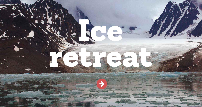 Ice retreat