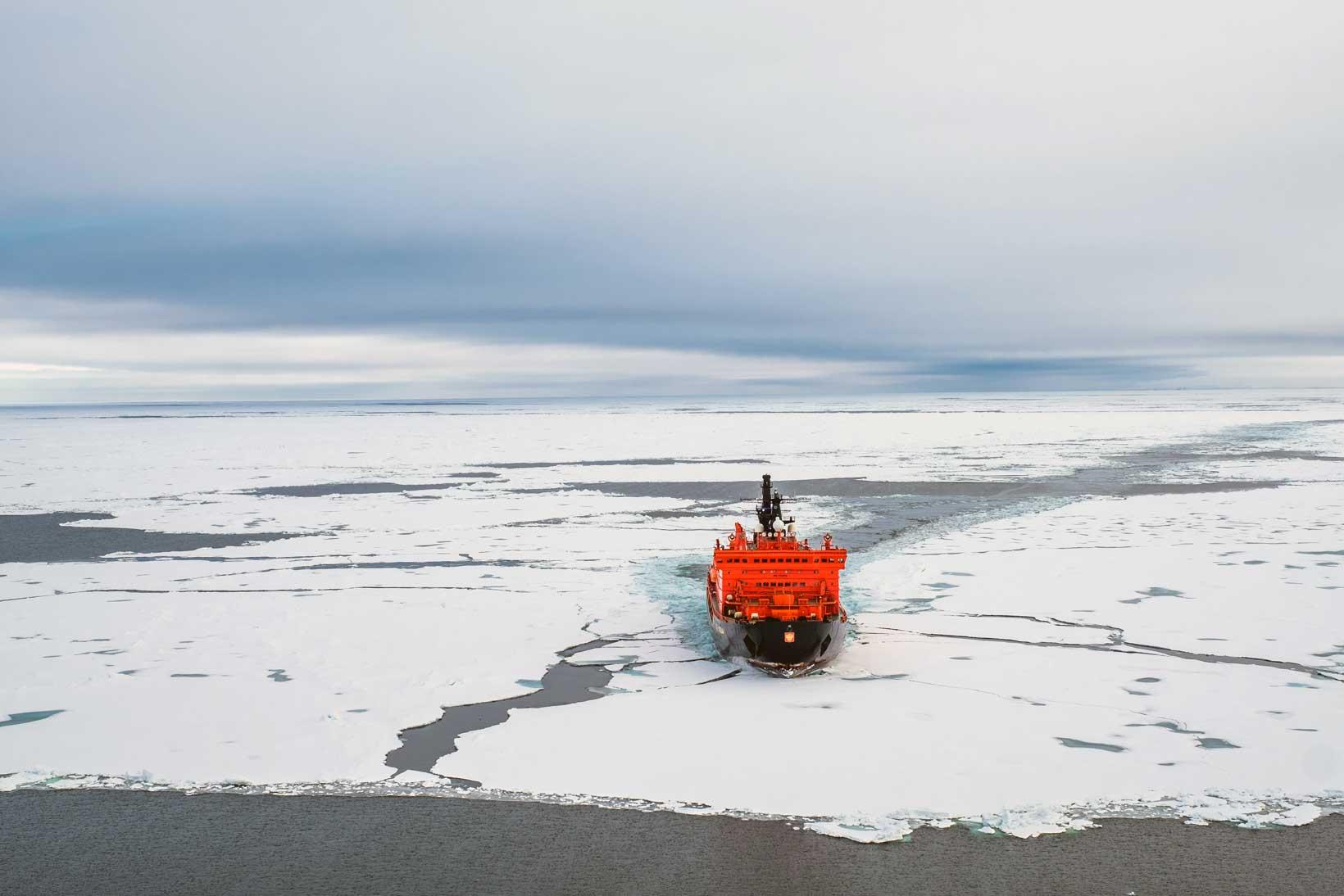 Icebreaker in the Arctic