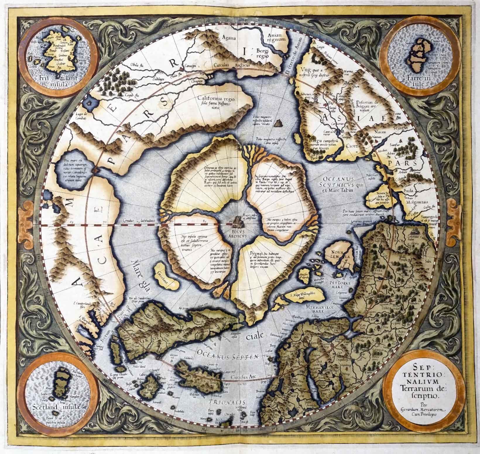 Mercator map of 1595