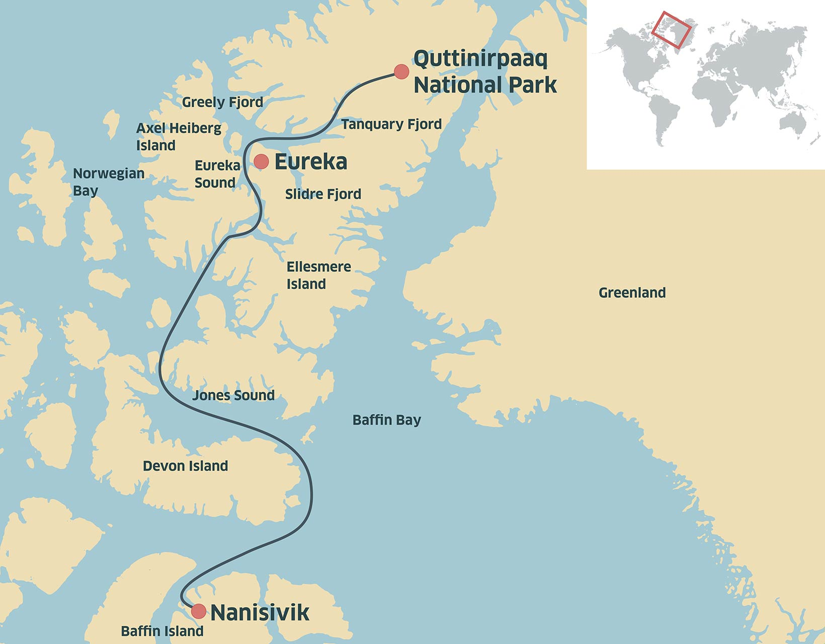 Quttinirpaaq map