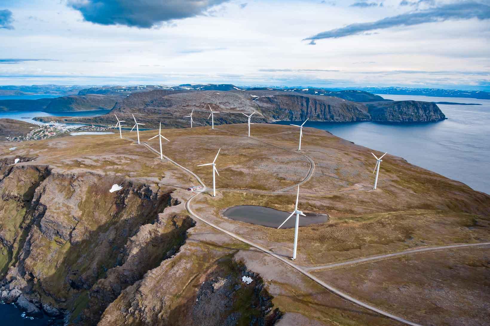 Windmills at Havoysund, Northern Norway