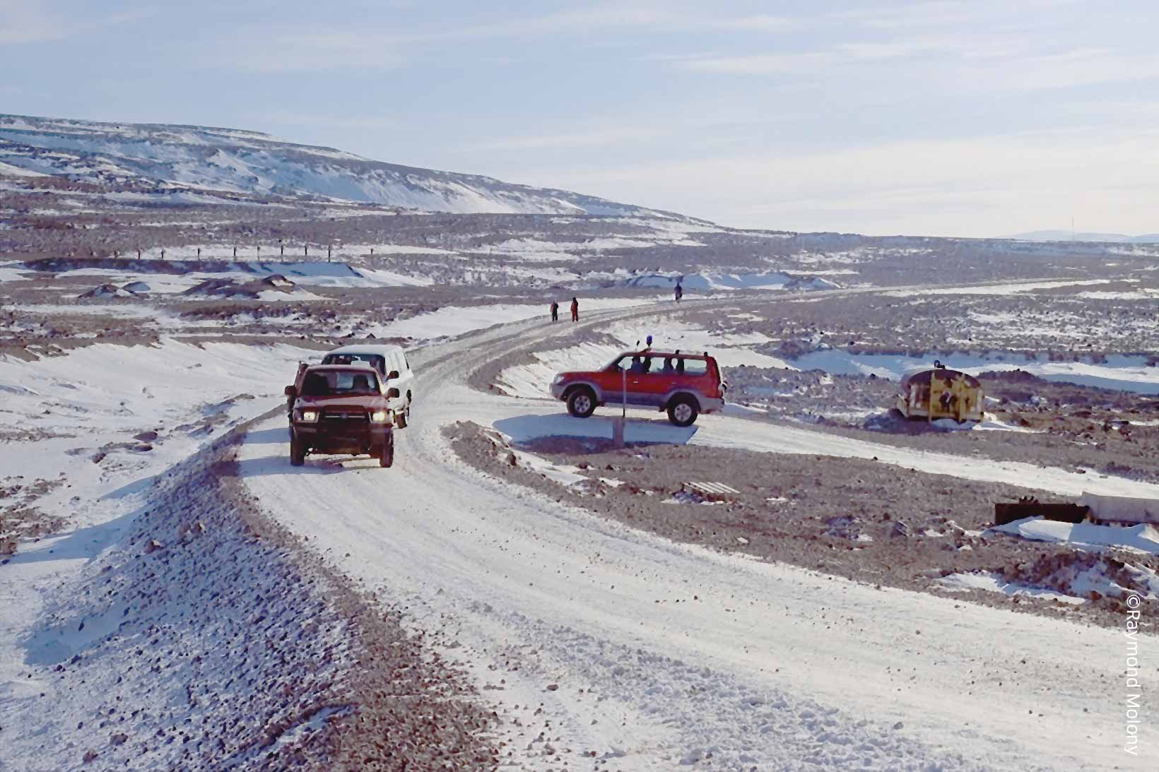 The road to Qaanaaq Airport