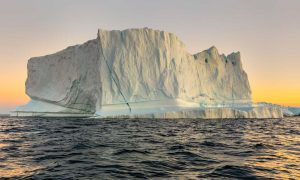 Huge iceberg in Disko Bay West Greenland