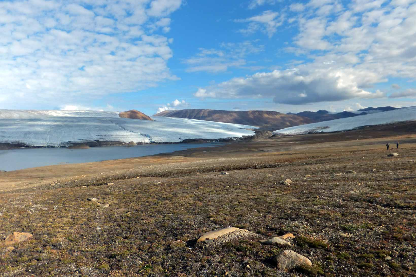 Junction of Scylla and Charybdis glaciers, Quttinirpaaq National Park, Nunavut, Canada.
