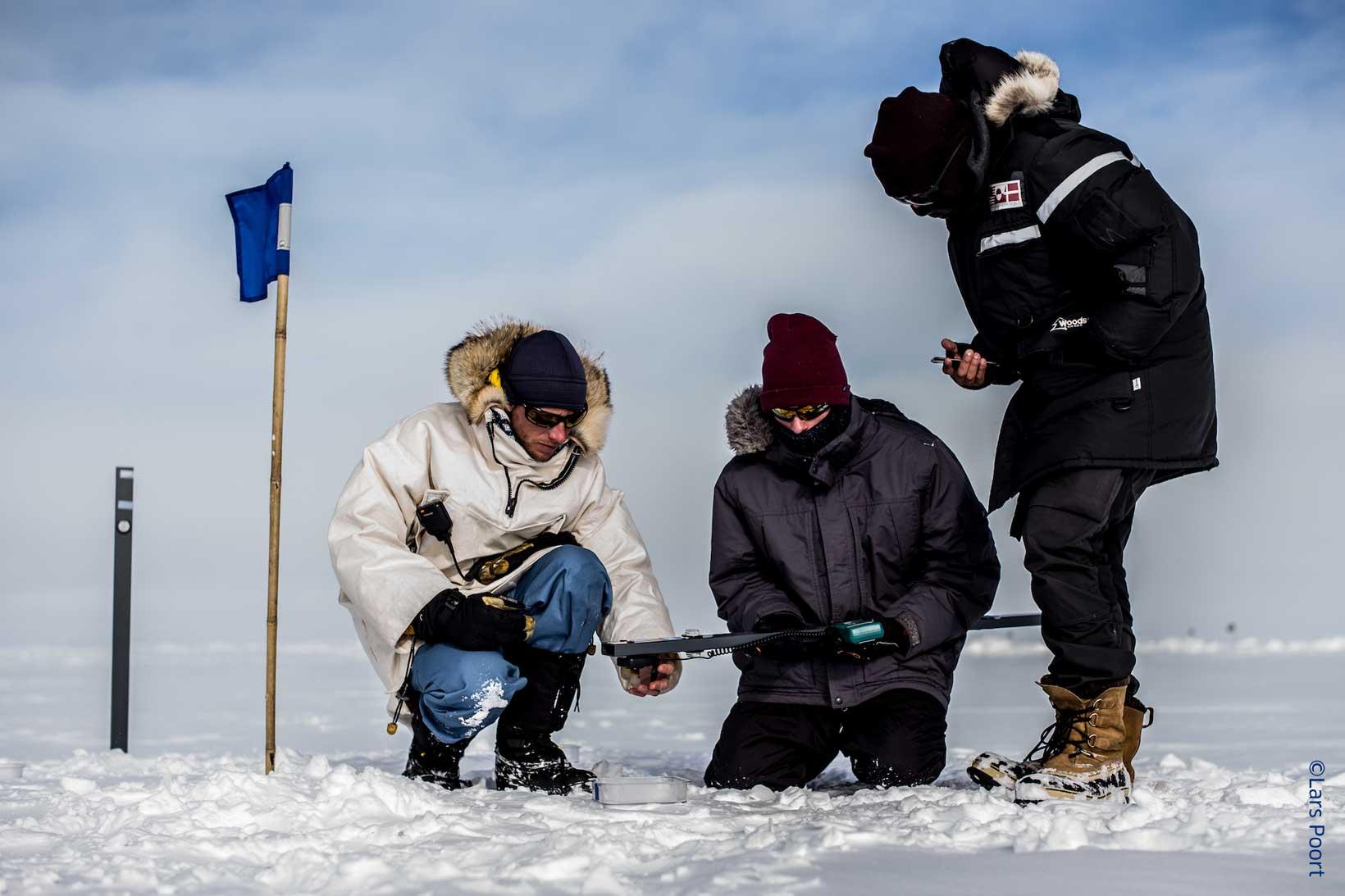 Students undertaking measuring tasks